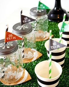 Super Bowl American Football Party Ideas & Printable Decorations