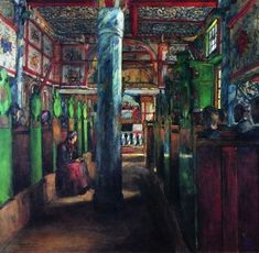 Interior frm Uvdal Stave Church - Harriet Backer - The Athenaeum