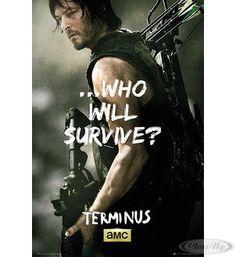 """Walking Dead Poster """"Who will survive?""""  Hier bei www.closeup.de"""