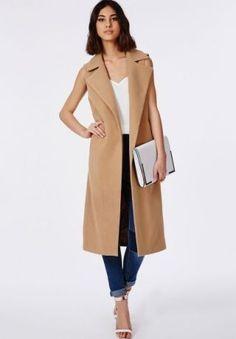 Trending....Sleeveless coat, £55 Missguided  -Sugarscape.com