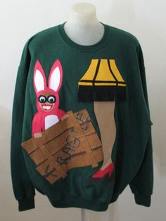 A Christmas Story Sweatshirt ahhh i want this for tacky christmas next year!! @jade nipper @Rebecca grant we just watched this in paulas class ahaha