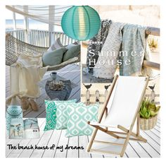 """""""Summer House"""" by nicolevalents ❤ liked on Polyvore featuring interior, interiors, interior design, home, home decor, interior decorating, Home Decorators Collection, Allstate Floral, Arlee Home Fashions and Telescope Casual"""