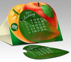 Дизайн настольного календаря ТМ «Биола» за 2013 год. Вариант 1
