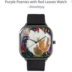 All of my watch designs are 30% off for MOTHERSDAY and ship free if you spend over $60! @modifywatches @anoellejay  https://modifywatches.com/collections/anoellejay/products/purple-poenies-with-red-leaves-watch