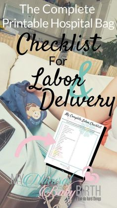 The Complete Printable Hospital Bag Checklist For Labor And Delivery