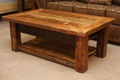 Image of: Large Rustic Coffee Tables