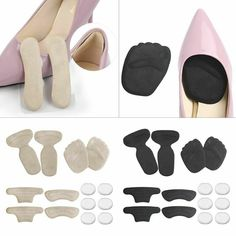 Shoe Insole Foot Heel Pain Relief Silicone Heel Pad Cushion Female Foot Pad FJ