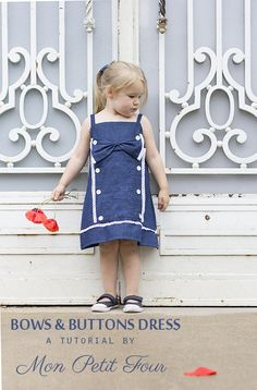Bows  Buttons Dress Tutorial