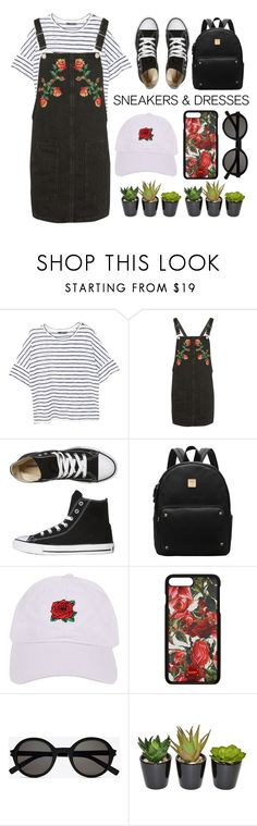 """Casuality"" by anasttan ❤ liked on Polyvore featuring MANGO, Topshop, Converse, Armitage Avenue, Dolce&Gabbana and Yves Saint Laurent"