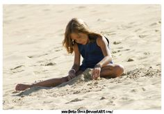Playing in the Sand by Della-Stock