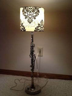 1930 A. Fontaine B flat metal Clarinet Lamp by MusicalLightingMN, $150.00