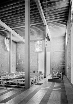 Rudolf Schwarz: St. Christophorus, Köln-Niehl, Fotos: Rheinisches Bildarchiv, Köln, 1954 - 1959. © Rudolf Schwarz, Nachlass Rudolf Schwarz, Köln