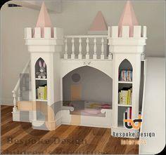 Luxury Princess Castle Bed by Luxurykidsfurniture on Etsy, £3500.00