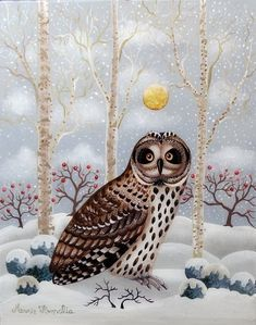 Winter Art, Bird Feathers, Owl, Birds, Christmas, Animals, Xmas, Animales, Animaux