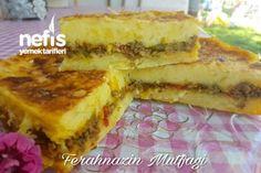 Olağan Üstü Lezzet Unsuz Kıymalı Patatesli Börek Tarifi nasıl yapılır? 1.257 kişinin defterindeki bu tarifin resimli anlatımı ve deneyenlerin fotoğrafları burada. Yazar: Ferahnaz Gülmez Diet Recipes, Snack Recipes, Snacks, Turkish Recipes, Ethnic Recipes, Middle Eastern Recipes, Homemade Beauty Products, Pastry Recipes, International Recipes