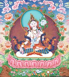 White Tara is the deity of long life. Her love heals at the source of disease, bringing health, strength, longevity and beauty
