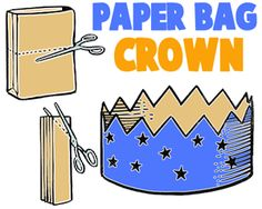 Paper Bag Crafts for Kids : Ideas for Arts & Crafts Projects & Activities with brown paper bags for children, teens, and preschoolers Craft Activities, Preschool Crafts, Preschool Christmas, Christmas Crafts, Paper Bag Crafts, Paper Bags, Diy Paper, Toddler Crafts, Crafts For Kids