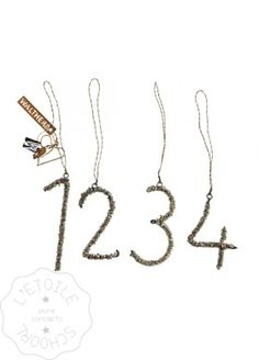 Bead numbers, set of 4