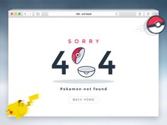 404 - Pokemon Not Found designed by Liviu Spiridon for Enwebo. Page 404, 404 Pages, Website Design Inspiration, Empty State, Web Forms, Error Page, Not Found, Ui Kit, Page Design