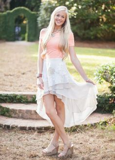 Women's Judith March Shabby Chic High Low Skirt