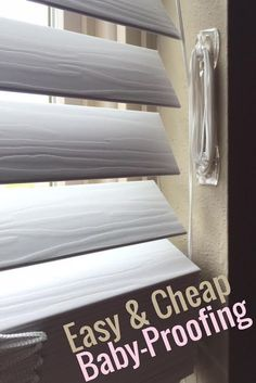 The easiest way to baby-proof your blinds Make your home safe for baby. This is the cheapest and easiest … Baby Safety, Child Safety, Baby Proof House, Toddler Proofing, Baby Proofing Ideas, Baby Care Tips, Thing 1, Baby Supplies, Childproofing