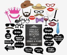 Bachelorette photo booth props. PRINTABLE