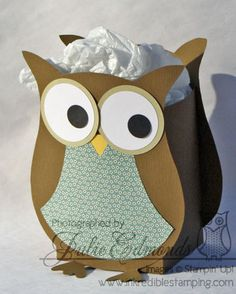 """Made with template from MDS - but would be so easy to make w/ my Cricut & any owl image & """"bag"""" image"""