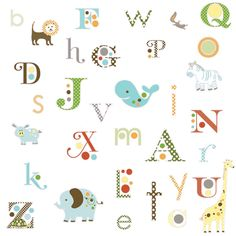 RoomMates RMK1440SCS Animal Alphabet Peel & Stick Wall Decals - Amazon.com