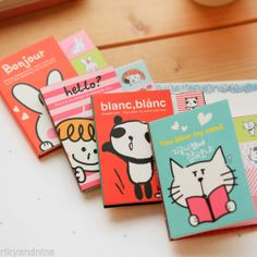 ICONIC Sticky Book MEMO-IT kawaii sticky notes 5pc cartoon note tab page markers, £3.00 | eBay