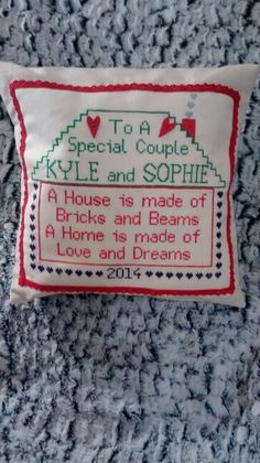 New Home Personalised Memory Cushion