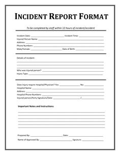 Medical Incident Report Form Merit Day Meritday On Pinterest