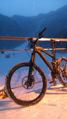 #mountainbiking #winter # mountains #mtb