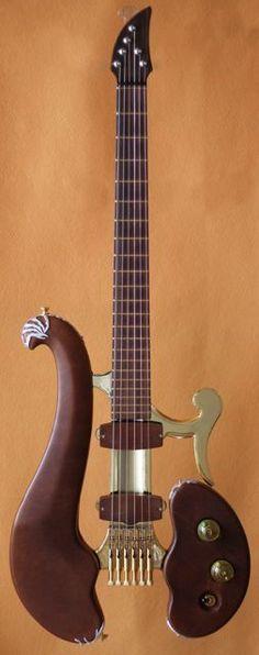 Di Donato Guitars - Cuoio Body: Sapele Mahogany and aluminum Scale: Guitar Art, Music Guitar, Cool Guitar, Playing Guitar, Acoustic Guitar, Guitar Scales, Guitar Tattoo, Ukulele, Banjo