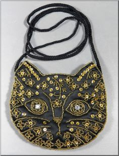 20s beaded cat purse from Vintage-In-Style
