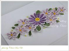 보라톤으로 만든 꽃입니다. 눈물방울 모양은 종이감기의 기본으로 꽃을 만들기에 적합한 모양이예요. 큰 꽃...