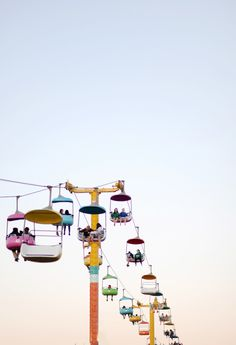 colorful high wire cabanas