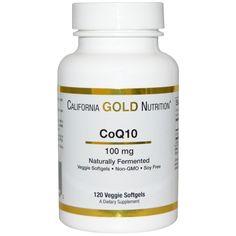 California Gold Nutrition, Коэнзим Q10, полученный с использованием процесса натурального брожения, 100 мг, 120 овощных капсул  Промокод FFF581