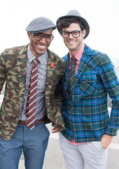 We're feeling Camo, Plaid, Floral Shirting and Corduroy. Queer Fashion, Mens Fashion, Cool Outfits For Men, Mr Turk, Tomboy Outfits, Designer Clothes For Men, Mens Glasses, Men's Grooming, Swimwear Fashion