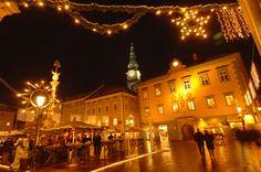 Christmas decoration at Alter Platz in Klagenfurt am Wörthersee. Photo: Franz Gerdl Klagenfurt, Alter, Travel, Viajes, Traveling, Trips, Tourism