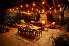 patio lights | Festoon lighting composed with down lighting and wash lighting. Let ...