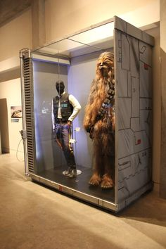 costumes from the star wars exhibit at the exploration place in wichita, ks.