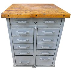 Industrial Wood And Metal Chest