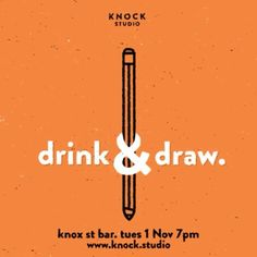 Hi friends, it's @knock_studio's drink and draw on Tuesday night. This time around well be throwing handing the animation jam over to Dave Carter to teach you some stop mo skills. We'll also get a chance to draw the amazing @missrosierivette. All for free! Gunna be great.