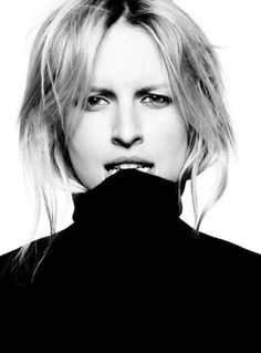 Karolina Kurkova by photographed by Ben Hasset  | black and white #bw