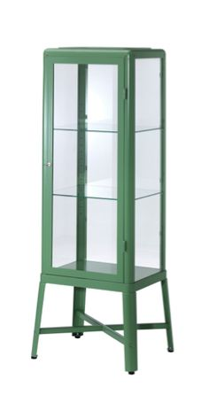 FabrikÖr Glass-door Cabinet, Beige
