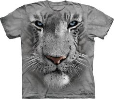 White Tiger Face Men T-shirt