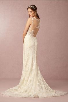 Inspired By Bhldn Briar Rose Gown Replica Lace Back Wedding Dressdress Laceused