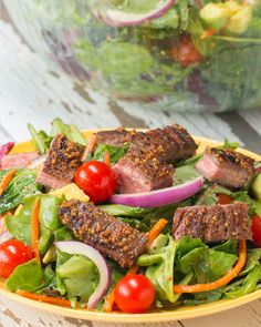Spice-Rubbed Flank Steak Salad