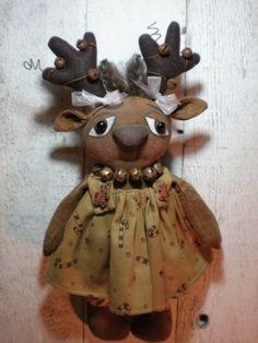 PatternMart.com ::. PatternMart: Primitive Grungy Reindeer Doll