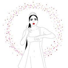 Resultado de imagen para Gif illustration woman dancing